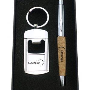 עט+מחזיק במארז מתנה